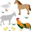 Farm animals set 2 — Imagen vectorial