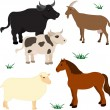 Farm animals set 3 — Stock Vector