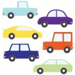 Set of vector cartoon cars — Stock Vector