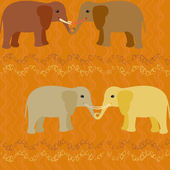 Elephants in love seamless pattern — Stock Vector