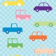 Royalty-Free Stock Vector Image: Colorful cars seamless pattern