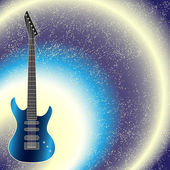 Vector background with guitar — Stock Vector