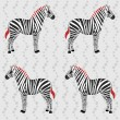 Royalty-Free Stock Imagen vectorial: Zebra pattern with flower stripes
