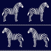 Zebra seamless pattern — Vector de stock