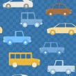 Colorful cars seamless pattern — Stock Vector
