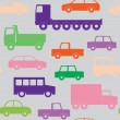 Cars and trucks seamless pattern — Stock Vector
