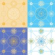 Set of seamless geometric patterns — Stock Vector