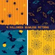 Stockvektor : Halloween seamless patterns collection
