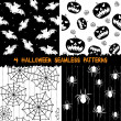 Halloween seamless patterns collection — ストックベクタ