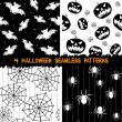 Stock Vector: Halloween seamless patterns collection