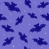 Halloween seamless pattern with bats — Stock Vector