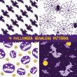 ストックベクタ: Halloween seamless patterns collection