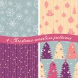 Christmas patterns collection 1 — Stock Vector