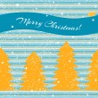 Christmas card with fir trees and stripes — Stock Vector
