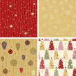 Stock Vector: Christmas patterns collection 2
