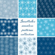 Collection of snowflake patterns — Stock Vector