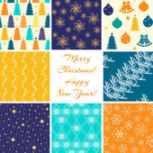 Christmas patterns collection — Stock Vector
