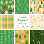 Christmas patterns collection 4 — Stock Vector