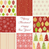 Christmas patterns collection — ストックベクタ