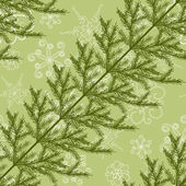 Seamless pattern with fir branches — Stock Vector