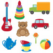 Stock Vector: Set of vector toys