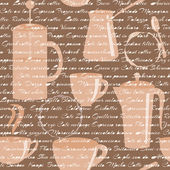 Seamless pattern with coffee types text — Stock Vector