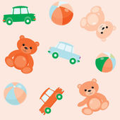 Seamless pattern with toys — Stock Vector