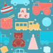 Seamless pattern with toys — Imagen vectorial