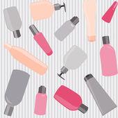 Seamless pattern with cosmetics bottles — Wektor stockowy
