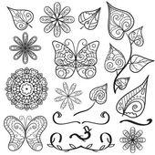 Summer hand drawn elements set — Stock Vector