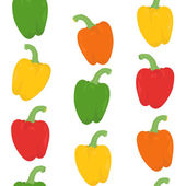 Seamless pattern with bright peppers — Stock Vector