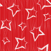 Seamless pattern with brush painted stars — Vettoriale Stock