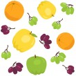 Seamless pattern with apples and grapes — Stock Vector #49877363