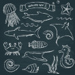 Sealife chalkboard set 2 — Stock Vector #50278935