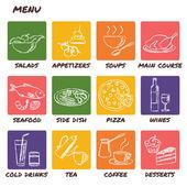 Hand drawn menu elements set — Stock Vector