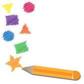 Les chiffres de dessin crayon — Vecteur