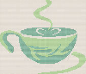 Tee copa icono sobre fondo de punto — Vector de stock