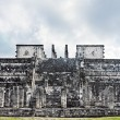 Temple of the jaguar warrior  Chichen Itza - Stock Photo