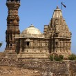 Tower of fame inside the Chittorgarh fort aera in rajasthan state in india - Stock Photo