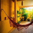 Hammock in patio - Stock Photo