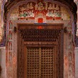 Details design of Muraraka haveli in nawalgarh city rajasthan state in india — Stockfoto