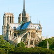 Notre Dame de Paris carhedral - Stock Photo