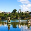 Orishas fountain  salvador of bahia — Foto Stock
