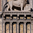 Atue of the saint mark lion — Stock Photo
