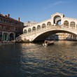 Rialto bridge area in the beautiful city of venice in italy — Stock Photo