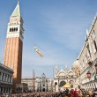 Carnival opening in venice — Stock Photo