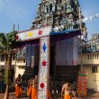 Gopuram of Vishnu Temple of Cochin in Kerala state india -  