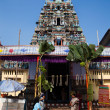 Stock Photo: Gopuram of Vishnu Temple of Cochin in Kerala state india
