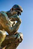 Copy of the thinker of rodin — Foto Stock