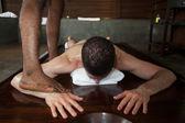 Massaggio ayurveda nello stato di kerala india — Foto Stock